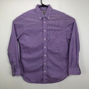 Gitman Bros Large Button Down Check Shirt Purple